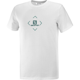 Salomon Cotton SS Tee Men, white/trellis/pacific